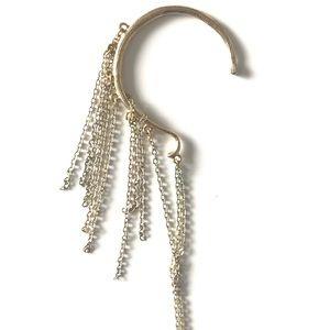 🌟NORDSTROM BRASS PLUM •ear chain jewelry